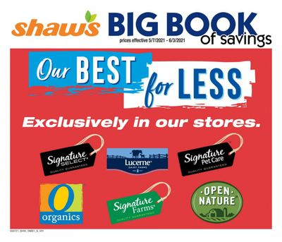 Shaw's (MA, ME, NH, RI, VT) Weekly Ad Flyer May 7 to June 3