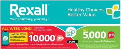 Rexall Canada Flyers Offers:Get 10,000 Be Well Points When You Spend $40 + 3 Day Sale + Hot Deals