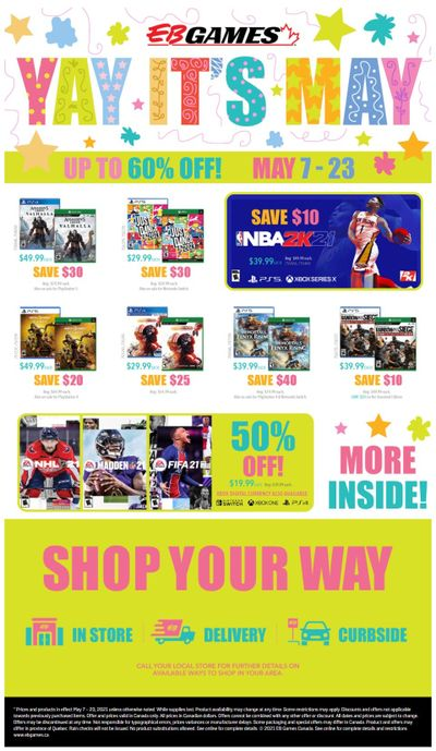 EB Games Flyer May 7 to 23