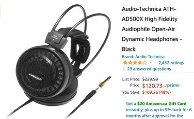 Amazon Canada Deals: Save 48% on Open-Air Dynamic Headphones + 38% on Electric Kettle + eGift Cards + More Offers