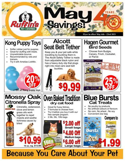 Rufiin's Pet Centre Flyer May 6 to 23