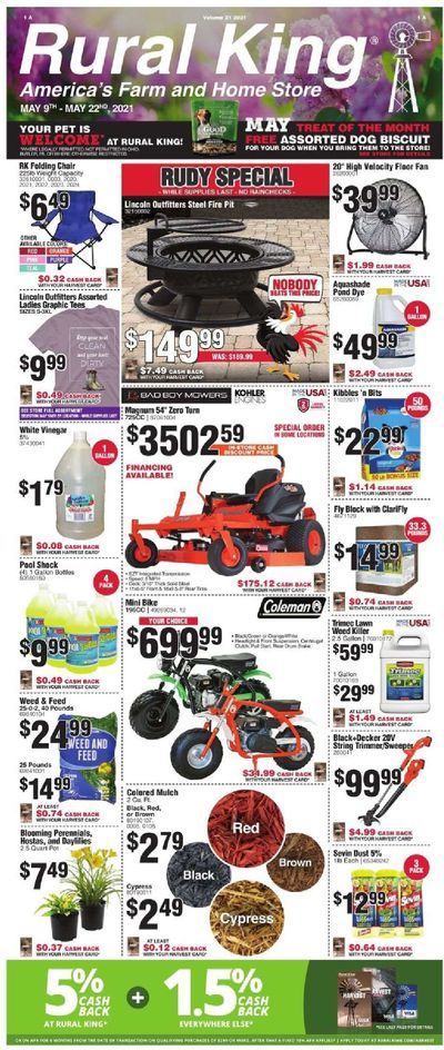 Rural King Weekly Ad Flyer May 9 to May 22