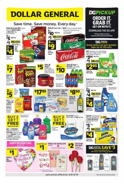 Dollar General (CA) Weekly Ad Flyer May 9 to May 15