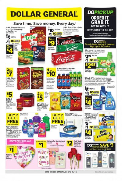 Dollar General (AZ, OR) Weekly Ad Flyer May 9 to May 15
