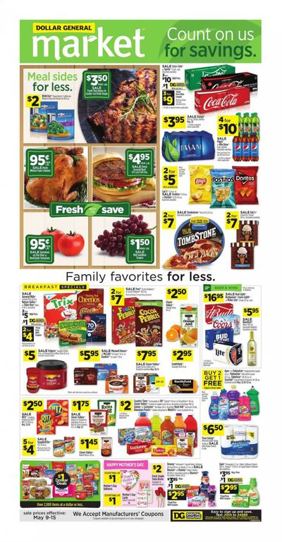 Dollar General (AL) Weekly Ad Flyer May 9 to May 15
