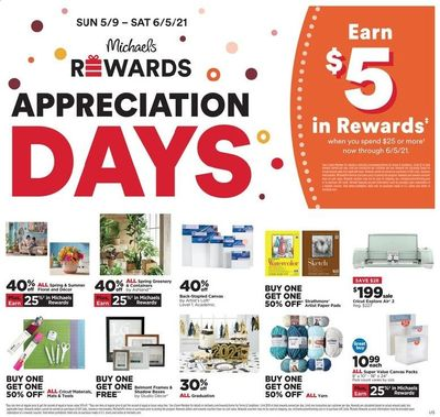 Michaels Weekly Ad Flyer May 9 to May 15