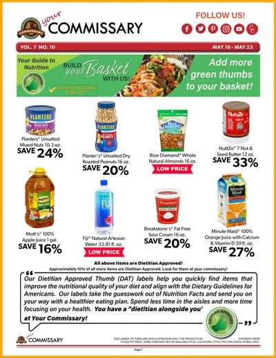 Commissary Weekly Ad Flyer May 10 to May 23