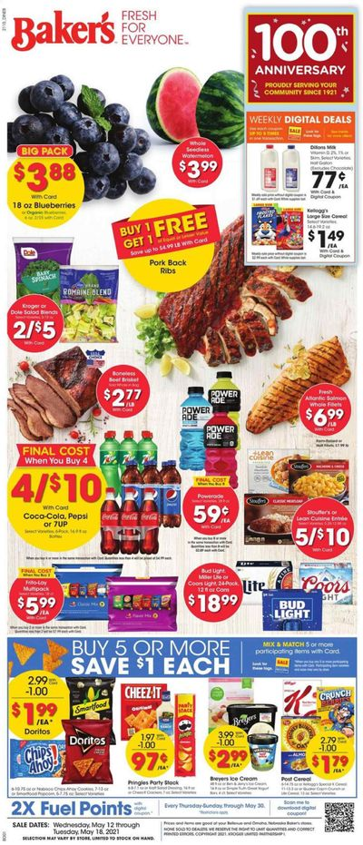 Baker's (NE) Weekly Ad Flyer May 12 to May 18