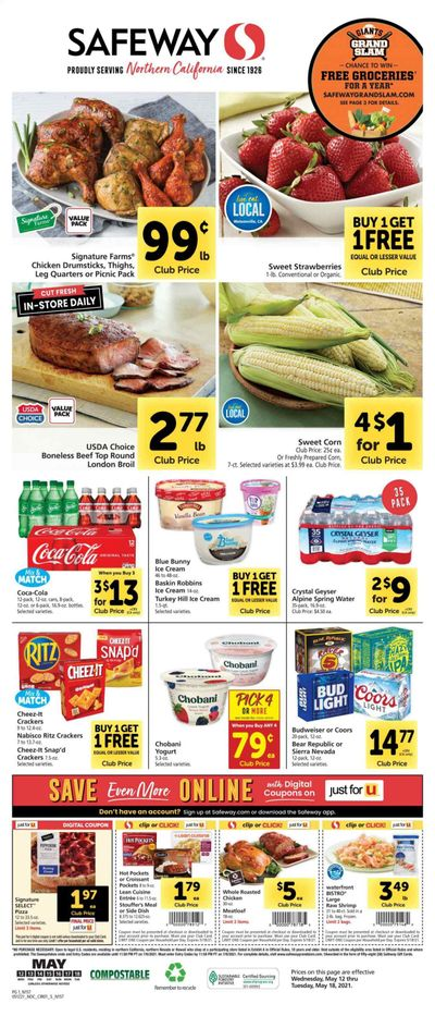 Safeway (AZ, CA, CO, HI, MD, NE, OR, VA, WA) Weekly Ad Flyer May 12 to May 18