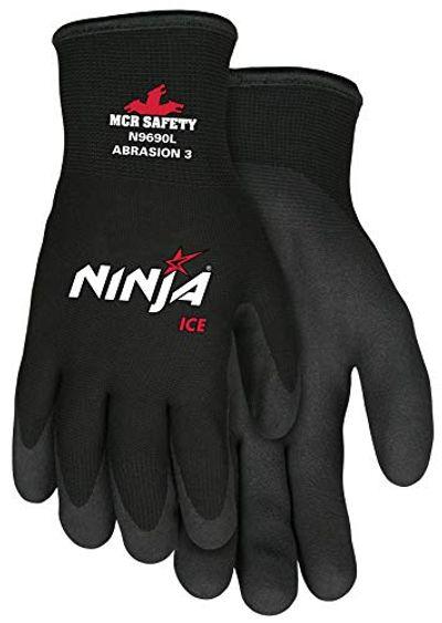 Memphis Glove N9690S Ninja Ice 15 Gauge Black Nylon Cold Weather Glove, Acrylic Terry Inner, HPT Palm and Fingertips, Small, 1 Pair $11.7 (Reg $12.70)