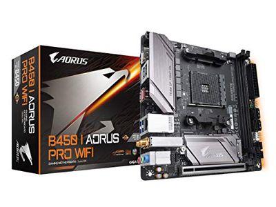 GIGABYTE B450 I AORUS PRO WiFi (AMD Ryzen AM4/M.2 Thermal Guard with Onboard WiFi/HDMI/DP/USB 3.1 Gen 2/Mini ITX/Motherboard) $149.99 (Reg $178.87)