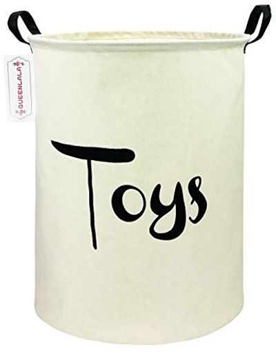 QUEENLALA Large Storage Bins,Storage Baskets,Waterproof Laundry Baskets,Storage Bin,Baby Basket,Toy Bin,Bedroom, Clothes,Baby Nursery,Gift Baskets,Laundry Hamper (Toys) $17.99 (Reg $18.99)