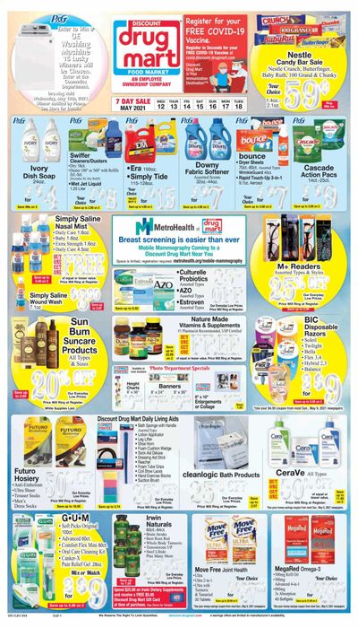 Discount Drug Mart (OH) Weekly Ad Flyer May 12 to May 18