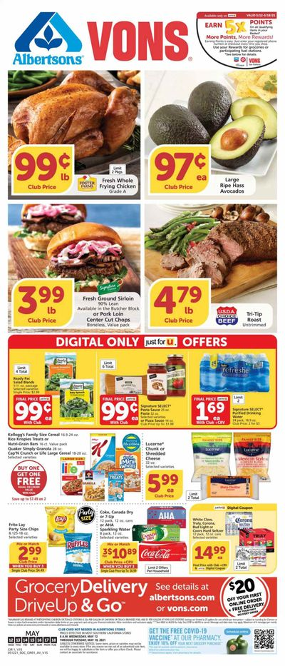 Vons (CA) Weekly Ad Flyer May 12 to May 18