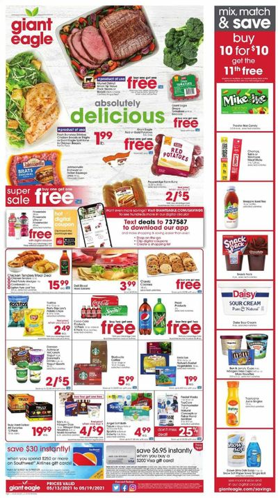 Giant Eagle (OH, PA) Weekly Ad Flyer May 13 to May 19