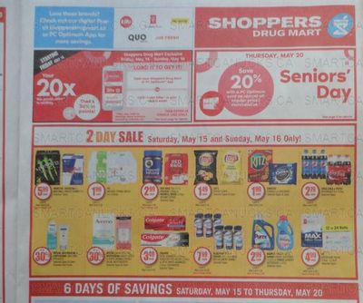 Shoppers Drug Mart Canada: Loadable 20x Offer This Weekend