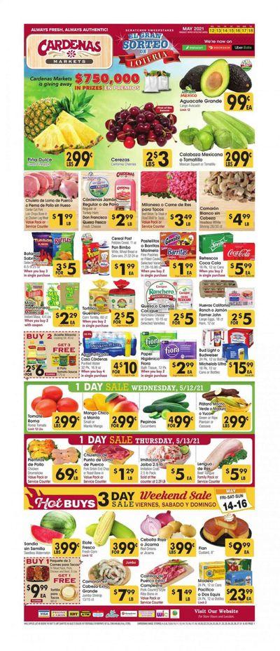Cardenas (CA, NV) Weekly Ad Flyer May 12 to May 18