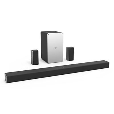 """VIZIO SB3651-F6 36"""" 5.1 Channel Home Theater Surround Sound Bar with Bluetooth– Dolby Audio, DTS Virtual:X, Wireless Subwoofer, Works with Google Assistant, Wi-Fi, HDMI ARC, Optical, Display Remote $271.88 (Reg $291.67)"""