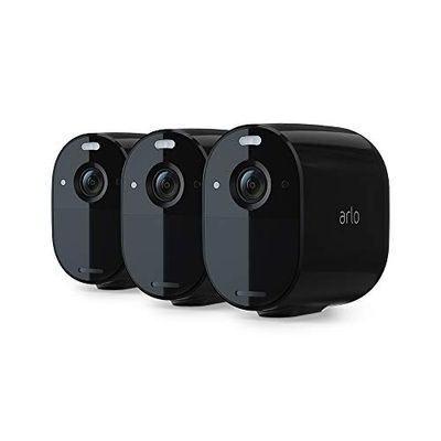 Arlo Essential Spotlight Camera | 3 Pack | Wire-Free, 1080p Video | Color Night Vision, 2-Way Audio, 6-Month Battery Life | Direct to WiFi, No Hub Needed | Compatible with Alexa | Black | VMC2330B $300.79 (Reg $369.99)