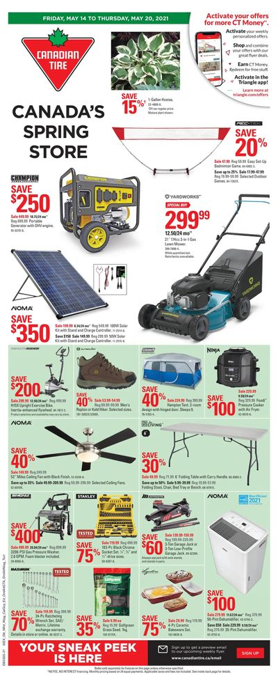 Canadian Tire (West) Flyer May 14 to 20