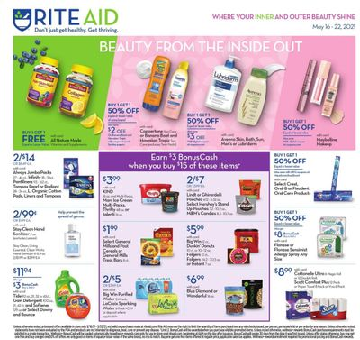 RITE AID Weekly Ad Flyer May 16 to May 22