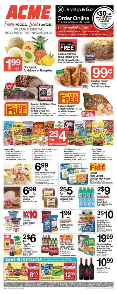 ACME (DE, NJ, NY, PA) Weekly Ad Flyer May 14 to May 20