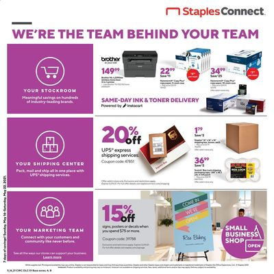 Staples Weekly Ad Flyer May 16 to May 22