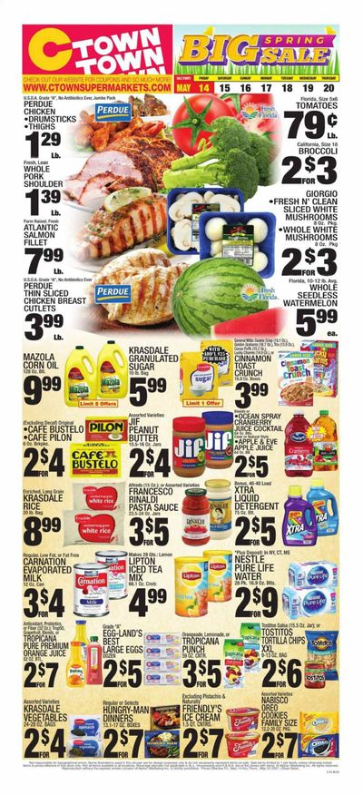 C-Town (CT, FL, MA, NJ, NY, PA) Weekly Ad Flyer May 14 to May 20