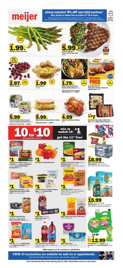 Meijer (MI) Weekly Ad Flyer May 16 to May 22