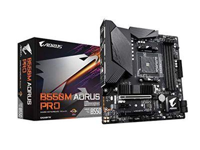 GIGABYTE B550M AORUS PRO (AM4 AMD/B550/Micro ATX/Dual M.2/SATA 6Gb/s/USB 3.2 Gen 2/PCIe 4.0/HDMI/DVI/DDR4/Motherboard) $129.99 (Reg $188.98)