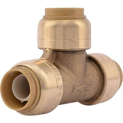 SharkBite U362LFA 1/2-Inch Tee, Plumbing Fittings for Residential and Commercial Water Applications, Lead-Free $12.84 (Reg $24.10)