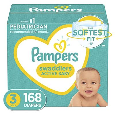 Pampers Swaddlers Disposable Diapers Size 3, 168 Count, ONE MONTH SUPPLY (Packaging and Prints May Vary) $31.56 (Reg $39.99)