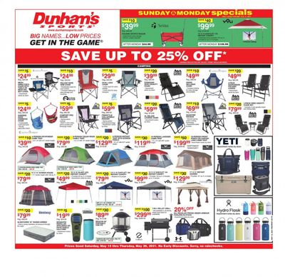 Dunham's Sports (MI, PA, WI) Weekly Ad Flyer May 15 to May 20