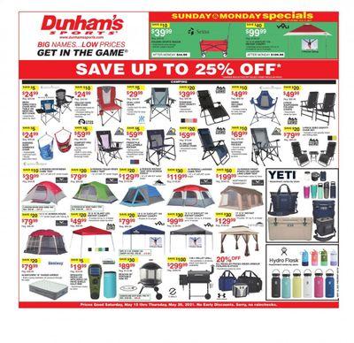 Dunham's Sports (MI, PA) Weekly Ad Flyer May 15 to May 20