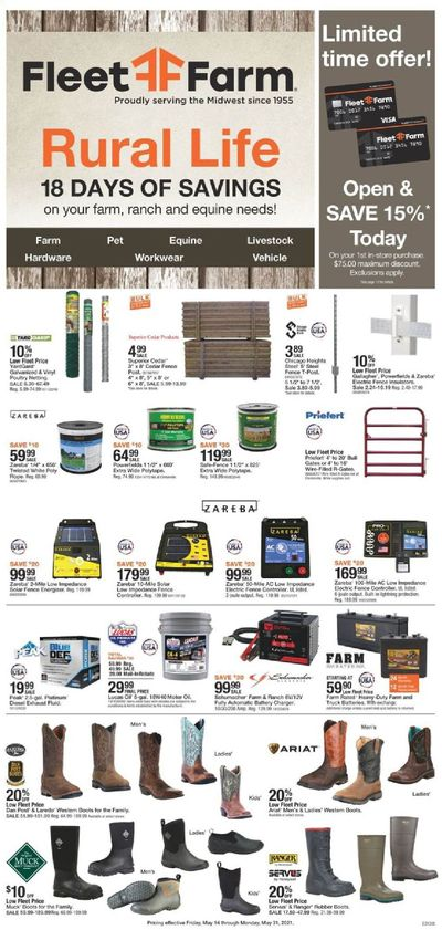 Fleet Farm (IA, MN, ND, WI) Weekly Ad Flyer May 14 to May 31