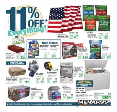 Menards Weekly Ad Flyer May 13 to May 22