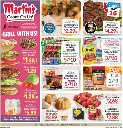 Martin's (IN, MI) Weekly Ad Flyer May 16 to May 22
