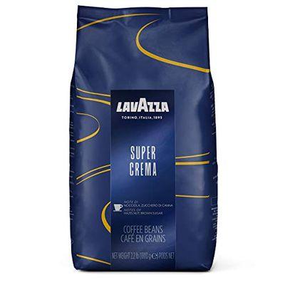 Lavazza Super Crema Whole Bean Coffee Blend, Medium Espresso Roast, 2.2-Pound (1KG) Bag $30.08 (Reg $33.00)