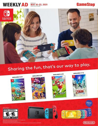 GameStop Weekly Ad Flyer May 16 to May 22