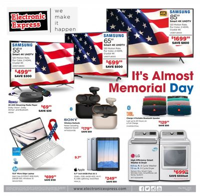 Electronic Express (AL, TN) Weekly Ad Flyer May 16 to May 22