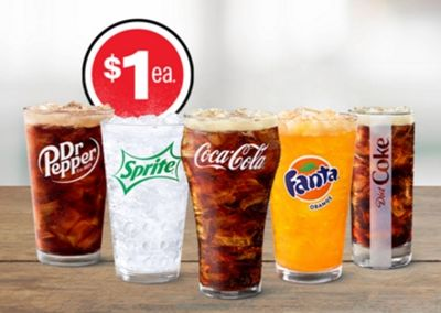 $1 Any Size Soft Drink & $2 Small McCafé Drinks Steal Deals!