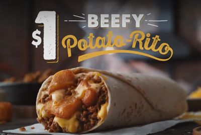 Taco Bell's The Beefy Potato-Rito For $1 Deal