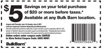 Bulk Barn Canada Coupon: Valid until June 6