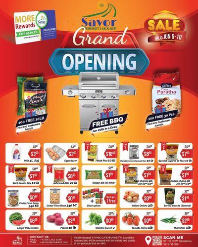 Savor Supermarket Flyer June 5 to 10