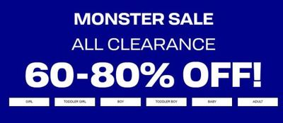 The Children's Place Canada Monster Sale: Save 60% – 80% OFF ALL Clearance