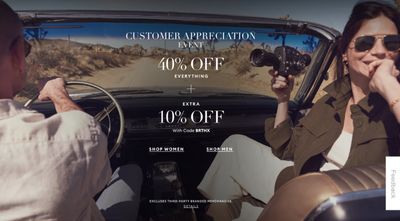 Banana Republic Canada Customer Appreciation Event Sale: Save 40% off Everything Sitewide + an Extra 10% off with Coupon Code!