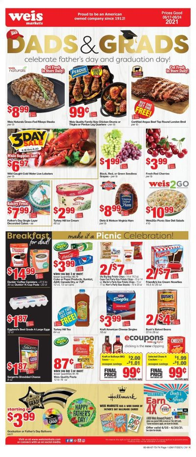 Weis (MD, NY, PA) Weekly Ad Flyer June 17 to June 24