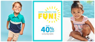 Carter's OshKosh B'Gosh Canada Summer Sale: Save 40% off Sunny Day Styles + 40% off Fashion Tops + Bottoms + More!