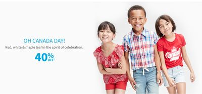 Carter's OshKosh B'Gosh Canada Day Sale: Save 40% off Oh Canada Day Styles + More!