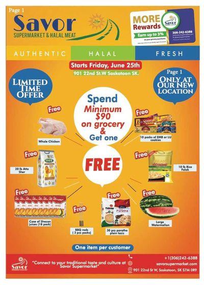 Savor Supermarket Flyer June 25 to July 1